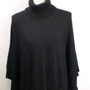 Michael Kors Black Turtleneck Pancho Sweater LARGE